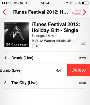 eliminar canciones de tu iPhone en iOS 7