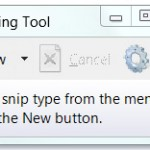 Cómo tomar una captura de pantalla con la herramienta Snipping Tool en Windows 8/Windows7