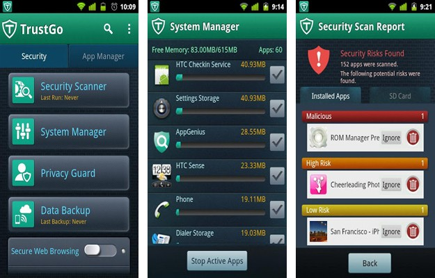 TrustGo Antivirus y seguridad móvil