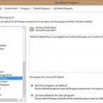 Hacer Windows Media Player el reproductor de audio predeterminado de Windows 8