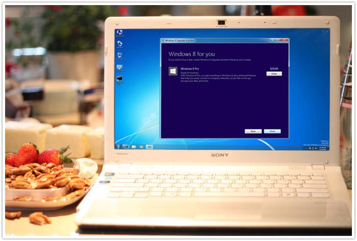 Usar el asistente de actualización de Windows 8
