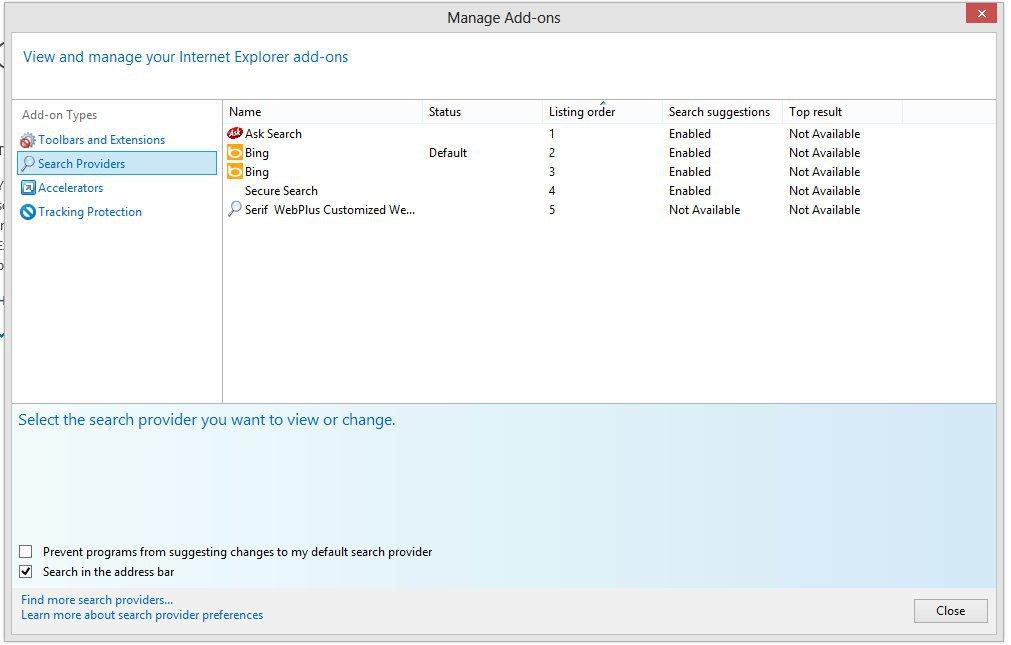 cambiar motor de búsqueda en Internet Explorer