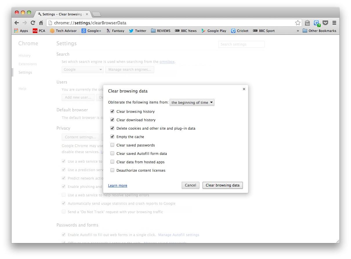 Cómo eliminar el historial de navegación en Chrome