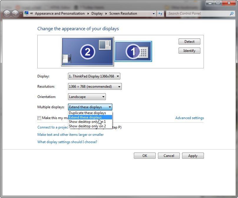 configurar dos monitores en windows 7