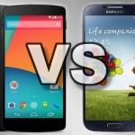 Nexus 5 vs. Samsung Galaxy S4, ¿cuál es la diferencia?