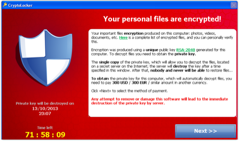 Cómo detener CryptoLocker