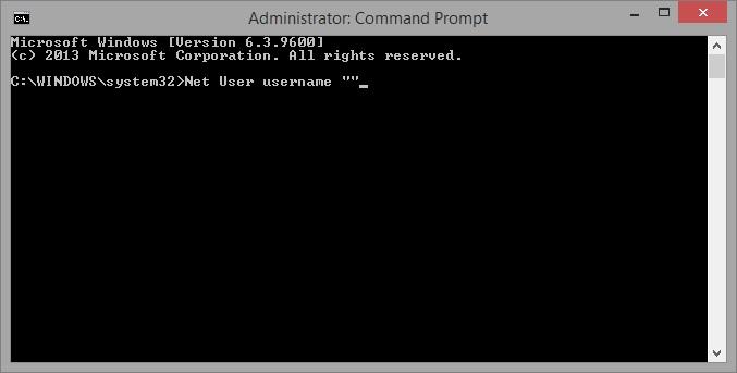 restablecer una contraseña en Windows 8/8.1
