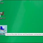 Cómo hacer que el icono Del ordenador en el escritorio Windows 8.1