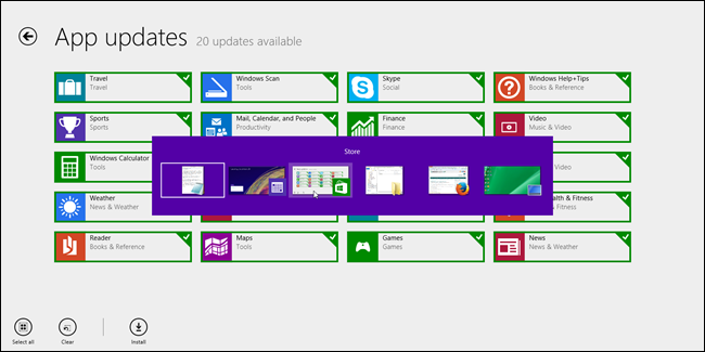 Windows 8 tarea