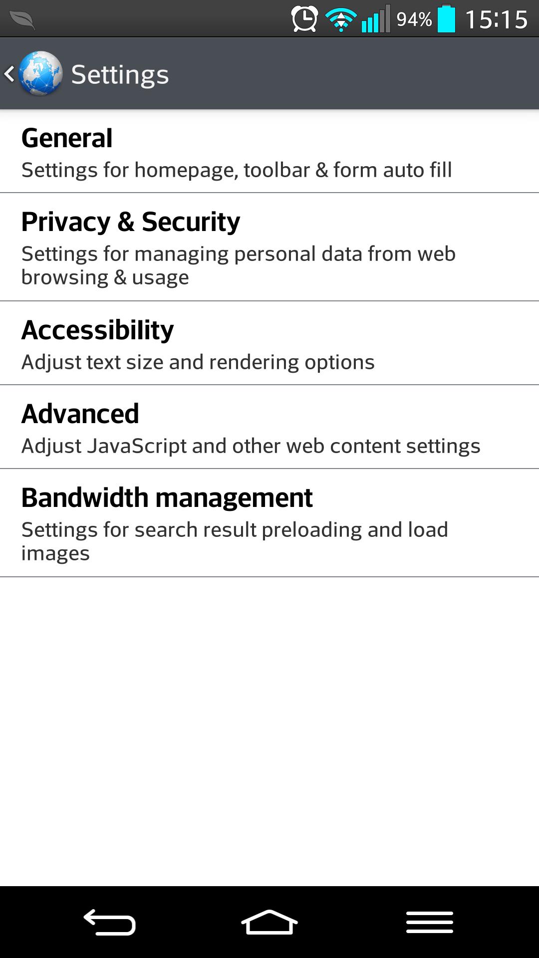 android navegador
