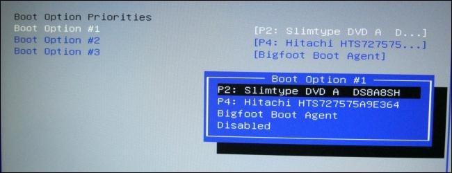 Cambiar el orden de arranque en el BIOS