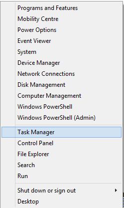menú en windows 8.1