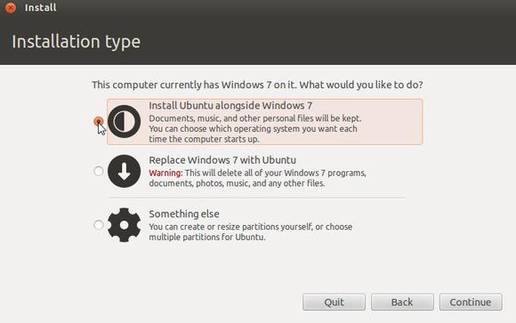 instalar ubuntu junto a windows 7