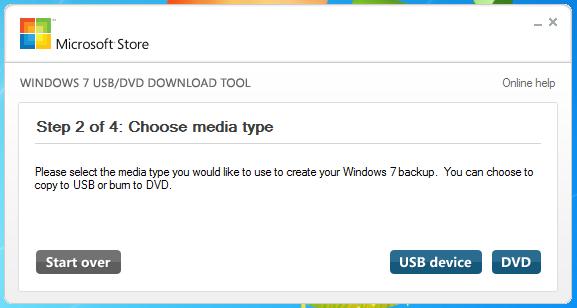 Windows 7 USB/DVD Download Tool