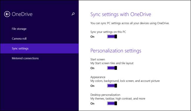 Copia de la configuración de la Cuenta Microsoft