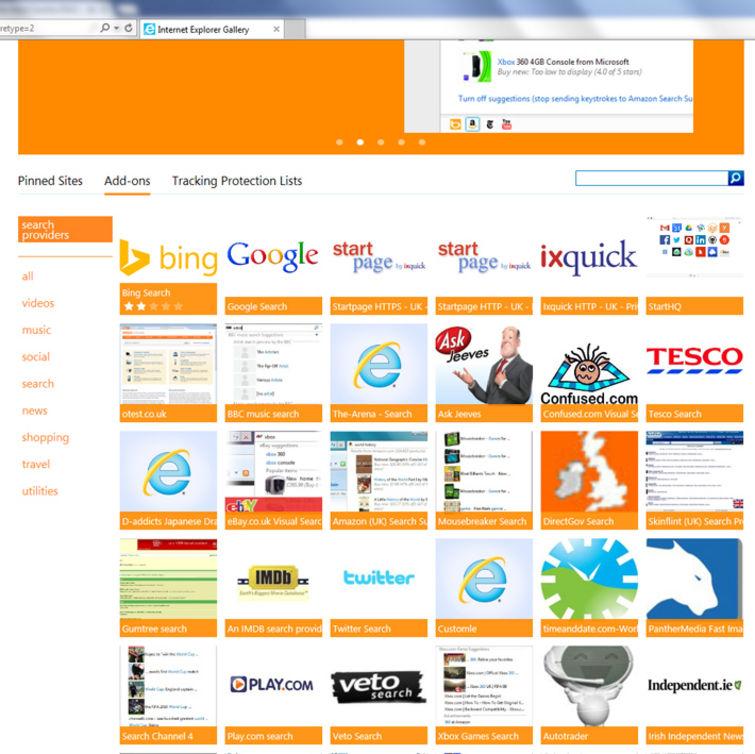 cambiar el motor de búsqueda en Internet Explorer