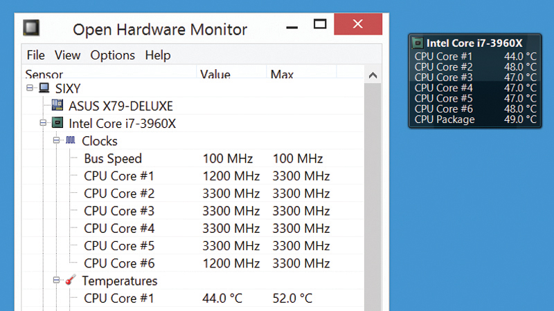 monitorizar la temperatura de la CPU