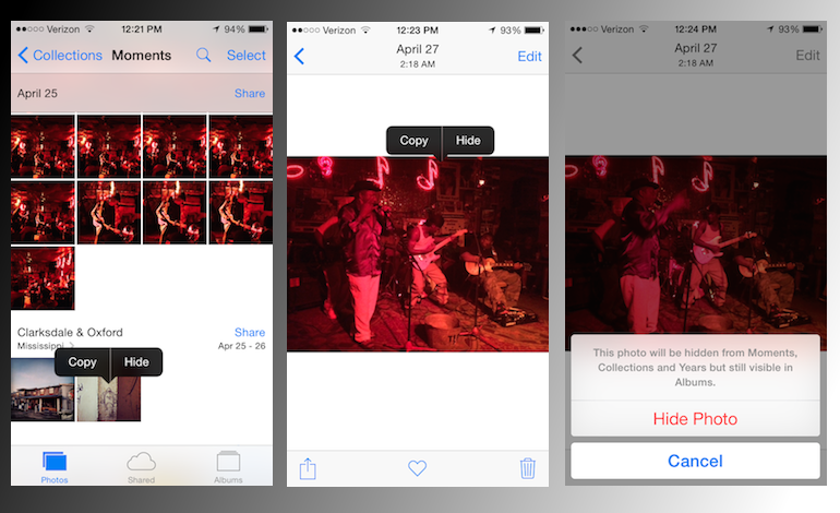 iOS 8 foto