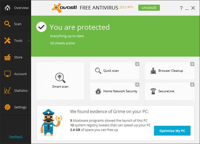 Avast Antivirus Free 2015