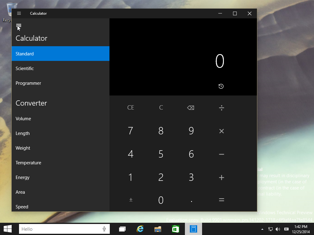 Calculadora de Windows 10