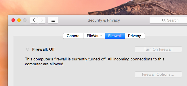 firewall de Mac