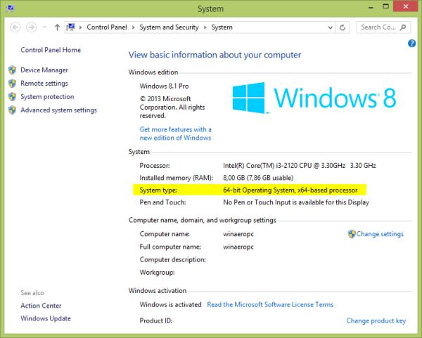 Windows 32-bit o 64-bit