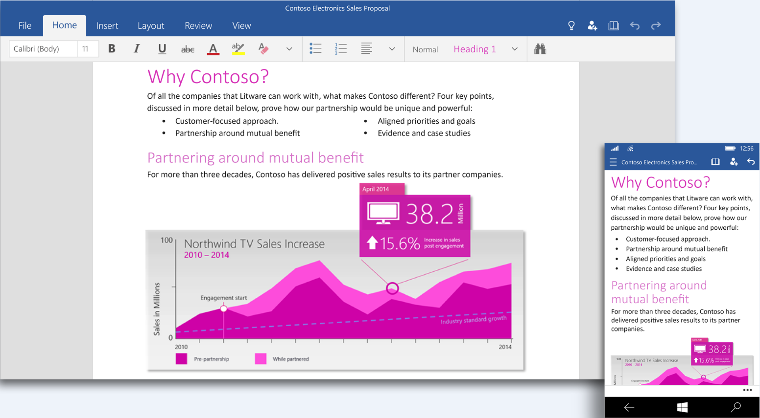 Office 2016 Touch Preview