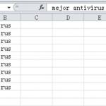 Introducir el mismo texto en múltiples celdas de Excel de una vez
