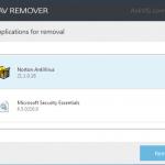 Desinstalar programas antivirus existentes usando ESET AV Remover