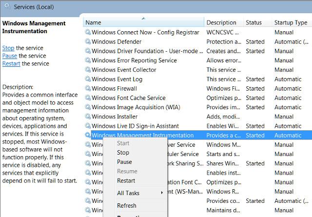 Servicios de Windows 7