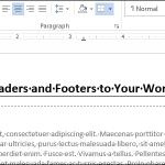 Cómo añadir un encabezado o pie de página a un documento Word