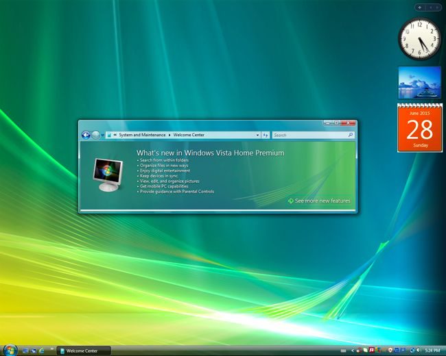 la actualización de un PC con Windows Vista a Windows 10