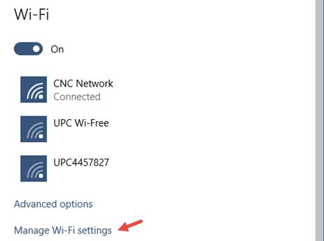 eliminar una red WIFI