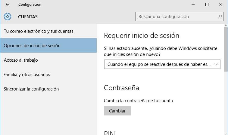 contraseña de Windows 10