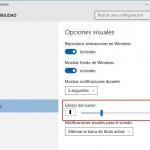 Consejo para Windows 10: Aumenta el Grosor del Cursor