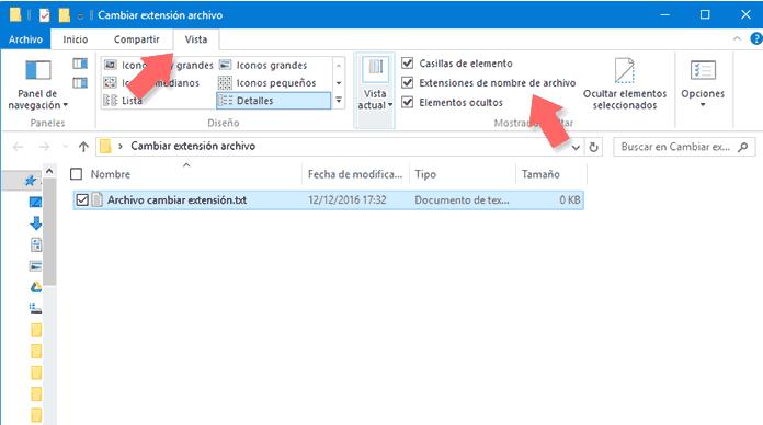 Extensiones de Archivo