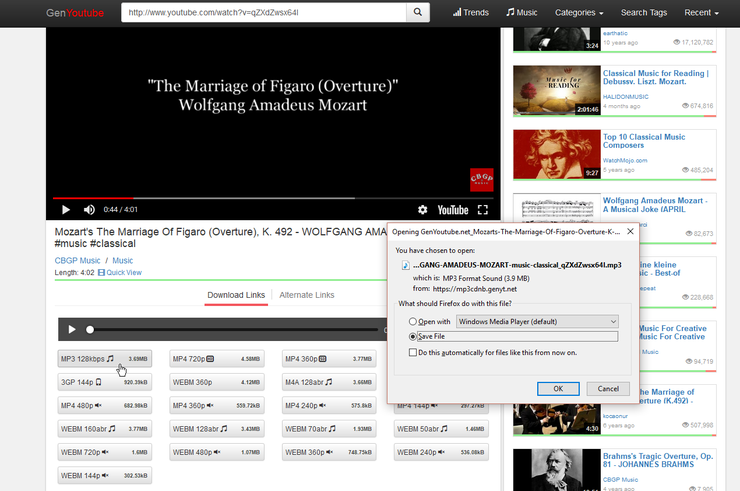 Youtube a Archivos MP3