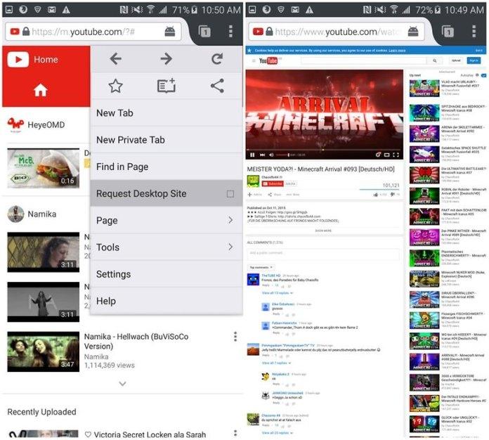 correr YouTube en segundo plano