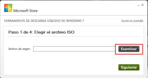 herramienta Windows USB Download