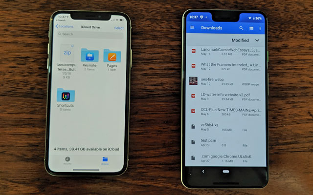 Android contra iPhone